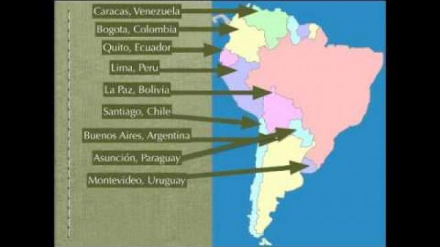 South America Map Rap Spanish Speaking Countries And Capitals
